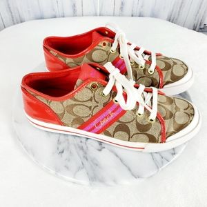 Coach Folly Lace Up Sneakers 7.5 B